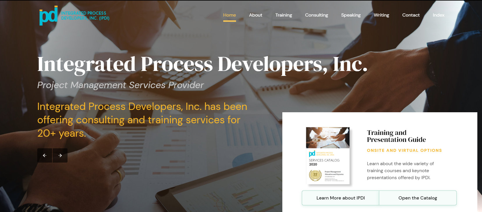 Integrated Process Developers Website